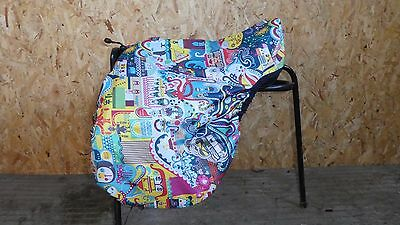 Waterproof Saddle Cover, Bucket Cover Hat Bag Made to Order OLLIE OCTOPUS PRINT
