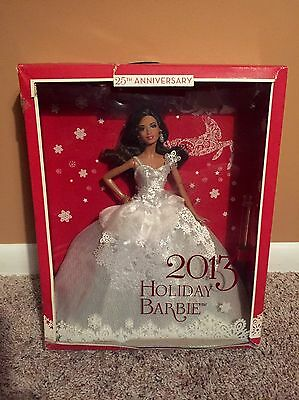 2013 Holiday Barbie African American 25th Anniversary Sealed Box Damages