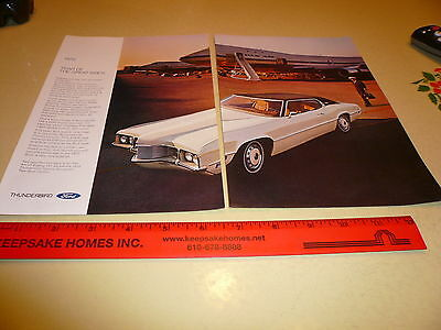 1970 Ford Thunderbird T-Bird White.Ad Advertisement Vintage