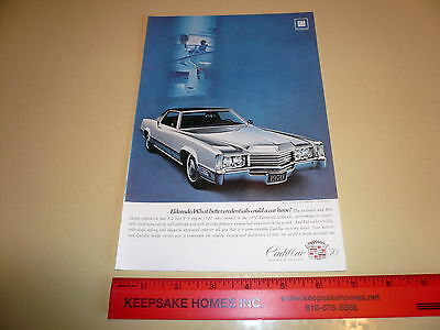 1970 Cadillac Eldorado - Silver with Black Vinyl Roof - Ad/Advertisement