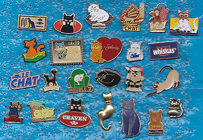 Lot De 24 Pin's Pins Chat Cat +++++++++++++++++++++++++++++++++++++