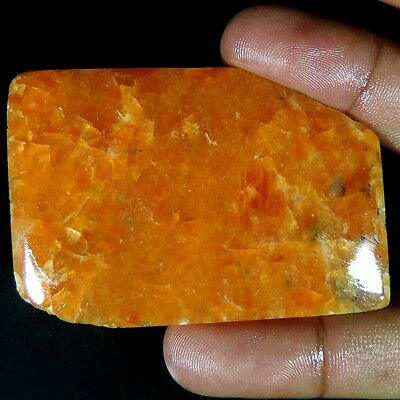 subtle designer 156.70CT.ORANGE CALCITE RARE SLAB POLISHED ROUGH STONE