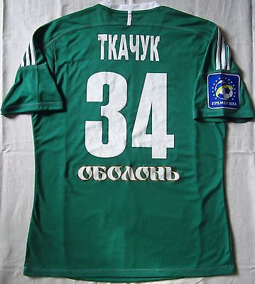 Vorskla Ukraine Match Worn Football Shirt Jersey Adidas Tkachuk #34