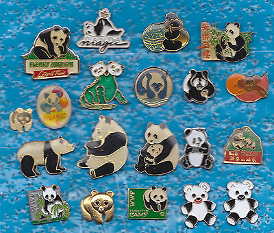 Lot De 20 Pin's Pins Panda De Chine Bear +++++++++++++++++++++++++++++++++++++