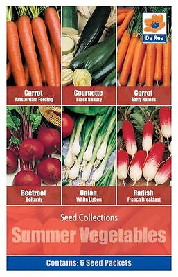 SEED Collection SUMMER VEGETABLES Pack - CARROT, BEETROOT, ONION, RADISH