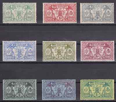NEW HEBRIDES (Br) - 1911 - Idols & Weapons. Complete set, 9v. Mint NH
