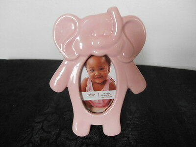 * New * Porcelain Pink Elephant Picture Frame ~ Charming!