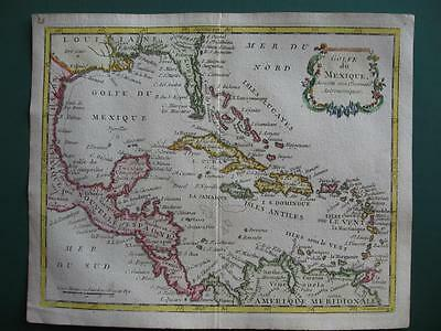 1780s - LAPORTE - Small map GULF OF MEXICO  WEST INDIES