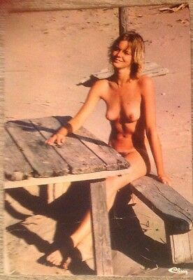 Naturist Postcard Showing Young Lady (1981) French