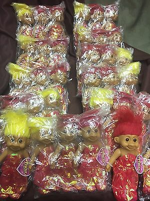 """Vintage Trolls Doll Russ 7"""" Tracey Prom Bridesmaid NEW w/Tag Hair Red Movie"""