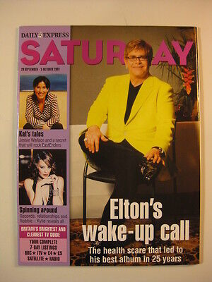 2001 Daily Express Saturday magazine Elton John cover Kylie