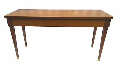 "43"" Drexel Vintage Mid Century Hinged Piano Organ Sewing Bench brass tip feet"