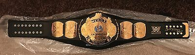WWE Replica Winged Eagle Championship Title Belt SIGNED BY BRET HART