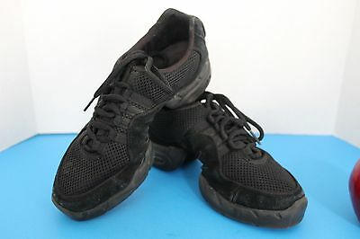 BLOCH Women's JAZZ/Hip Hop SNEAKER Dance Shoes~Black~Size 7.5~Split Sole