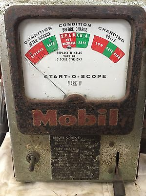 Vintage Mobil Motor Oil Gas Station Petroliana Collectible Battery Charger