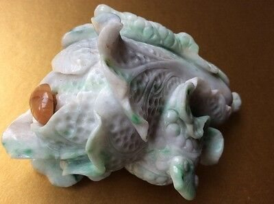 Antique Chinese Natural Dushan Jade Carved Cabbage Snuff Scent Perfume Bottle