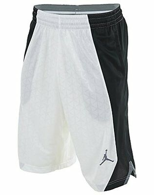 Jordan NIKE FLIGHT KNIT Basketball Shorts men XL NWT WHITE BLACK 820645