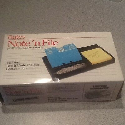 NEW Bates Note'n File Rolodex 125 Cards Post-it Notepad Office Desk Organizer