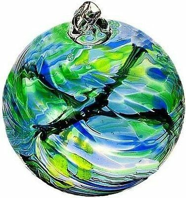 """May Birthday Wish Birthstone Hanging Witch Ball Ornament 6"""" by Kitras Art Glass"""
