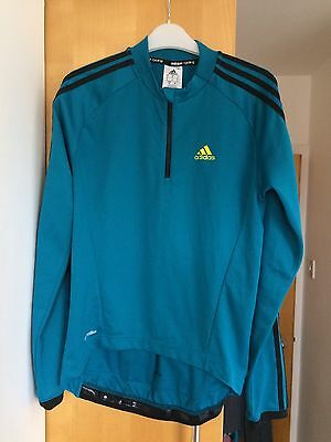 Adidas Teal Cycling Long Sleeve Jersey - Small