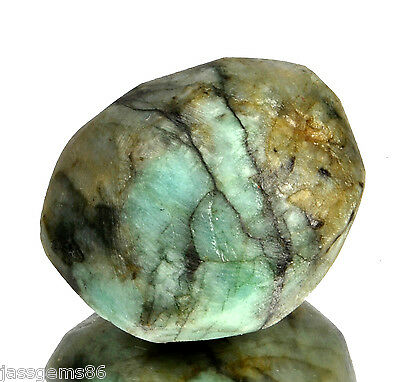 Certified 46.35 CT. Natural Emerald Green Rough Shaped Gemstone S.T NO-4762