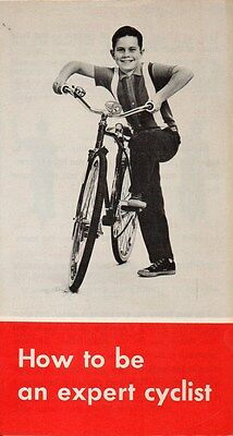 Vintage 1960's 'HOW TO BE AN EXPERT CYCLIST' Ontario Government Brochure BICYCLE