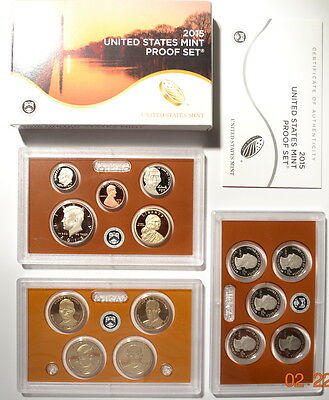 2015 United States Mint Proof Set (14 Coins)