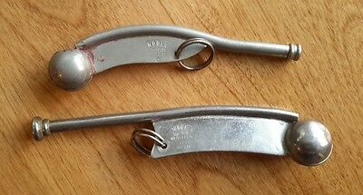 2 Vintage Noble Boatswain or Bosun Call, Whistles, Pipe's