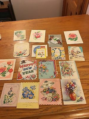 Vtg Lot Of Greeting Cards. New Years Birthday Get Well