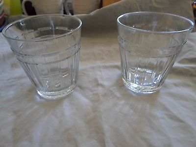Longaberger Pottery Woven Tradition 2 Glass Juice High Ball Tumblers 12 Ounce