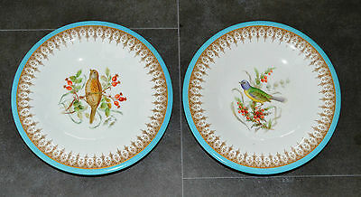 Antique Royal Worcester Hand Painted Porcelain Comport Pair of