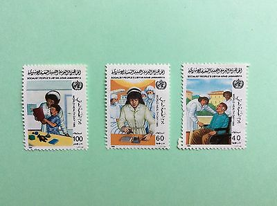 TIMBRE Stamp LIBYE 1985 World Health Day