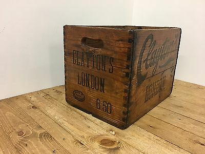 Rare Antique Claytons Of London Bottle Crate