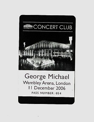 ❤George Michael❤ 25 Live. Wembley Arena Pass From 2006. *Very Low Number* Wham