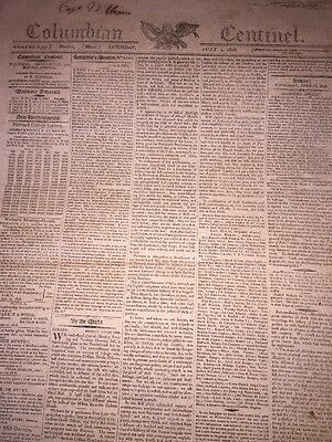 1808 Boston Mass. Newspaper ~ American Independence Day