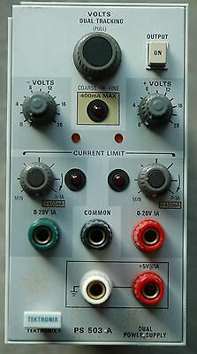 Tektronix PS503A PS 503 Dual Tracing Power Supply Module, Works Great! B033478