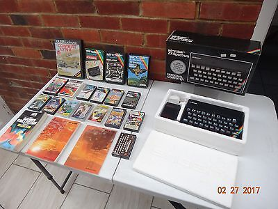 Vintage Boxed Sinclair Zx Spectrum 48K Ram With Loads Of Boxed Games