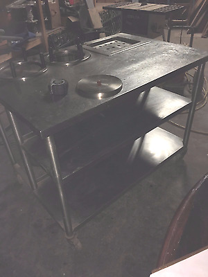 Stainless Steel Service Table with Warmers