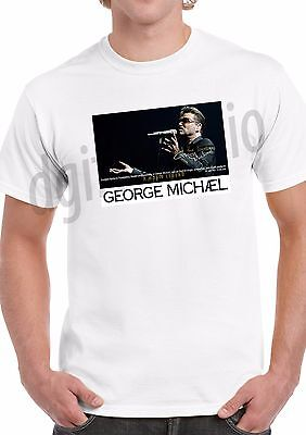 George Michael Tribute T-Shirt printed front and back