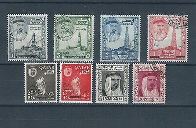 Middle East - Qatar Quatar FU REVALUED definitive stamps with 8 values to 10 R