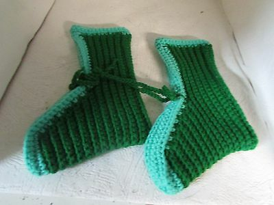 New Slippers--Hand Knit   (1483)