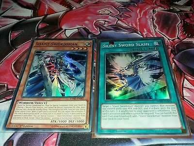 Silent Swordsman Ultra Rare + Silent Swordsman Slash Super DPRP-EN001+ EN004 NM