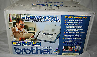 NEW In Box Brother IntelliFax 1270e Fax Machine Never Used Open Box Plain Paper