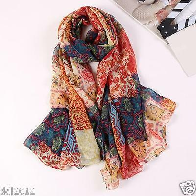 Fashion Women Floral Long Soft Wrap scarf Ladies Shawl Voile Scarf Scarves New