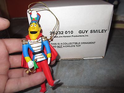 GROLIER Christmas on Sesame Street GUY SMILEY Ornament with BOX