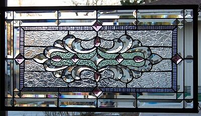 Stained Glass window hanging 30 1/12 X 16 1/4