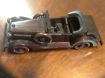 Handcrafted Solid Wood Antique Car