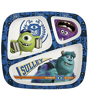 Monsters U - 3 section plate - set of 6