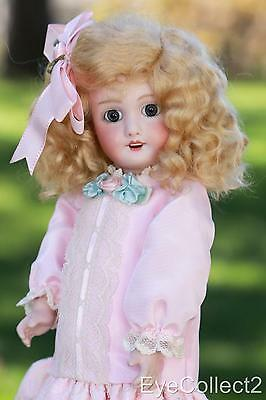 "11"" Antique Jumeau Reproduction Bleuette Doll Plus Free Handmade Doll Swing"
