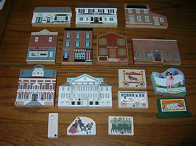 """MIXED LOT of 16 T""""HE CATS MEOW VILLAGE"""" Pieces...SEE PICTURES"""